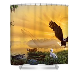 Spirit Of The Everglades Shower Curtain by Jerry LoFaro
