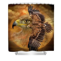 Shower Curtain featuring the mixed media Spirit Of The Wind by Carol Cavalaris