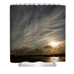 Spirits Flying In The Sky Shower Curtain