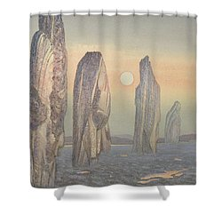 Spirits Of Callanish Isle Of Lewis Shower Curtain by Evangeline Dickson