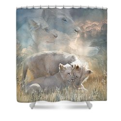 Spirits Of Innocence Shower Curtain by Carol Cavalaris
