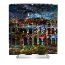 Spirits Of The Coliseum Shower Curtain by Jack Zulli