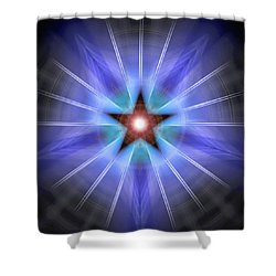 Shower Curtain featuring the drawing Spiritual Pulsar by Derek Gedney