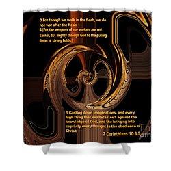 Spiritual Warfare Shower Curtain by Wayne Cantrell
