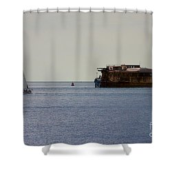 Spitbank Fort Martello Tower Shower Curtain