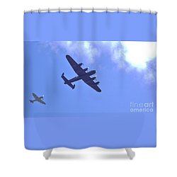 Spitfire  Lancaster Bomber Shower Curtain