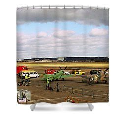 Spitfire's Galore Shower Curtain by Terri Waters