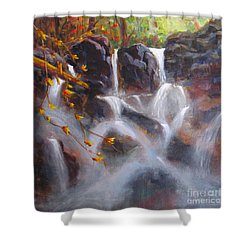 Splash And Trickle Shower Curtain by Mohamed Hirji