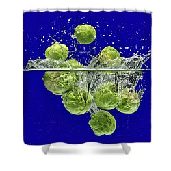 Splash-brussels Sprouts Shower Curtain