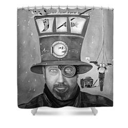 Splash Bw 2 Shower Curtain by Leah Saulnier The Painting Maniac