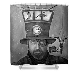 Splash Bw Shower Curtain by Leah Saulnier The Painting Maniac