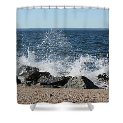 Shower Curtain featuring the photograph Splash by Karen Silvestri