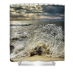Splash N Sunrays Shower Curtain
