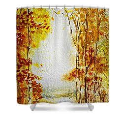 Splash Of Fall Shower Curtain by Irina Sztukowski