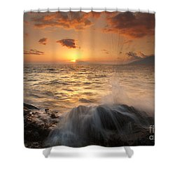Splash Of Paradise Shower Curtain by Mike  Dawson
