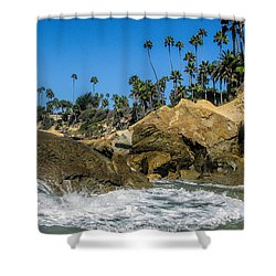Splash Shower Curtain by Tammy Espino
