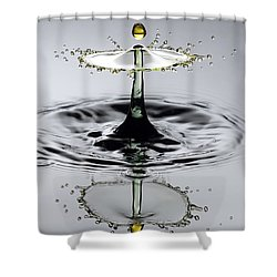 Splash Yellow And Green Shower Curtain