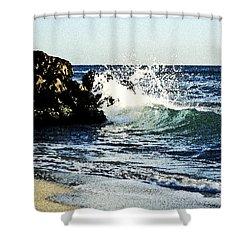 Splashing Wave Shower Curtain