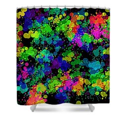 Shower Curtain featuring the photograph Splatter by Mark Blauhoefer