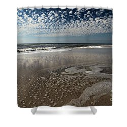 Splattered Clouds Shower Curtain by Adam Jewell