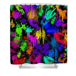 Splattered One Shower Curtain