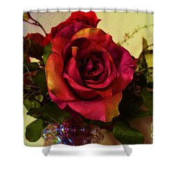 Splendid Painted Rose Shower Curtain by Luther Fine Art