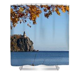 Split Rock Leaves Shower Curtain