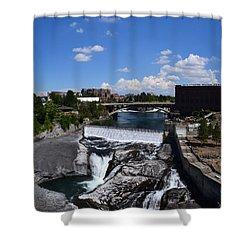 Spokane Falls And Riverfront Shower Curtain