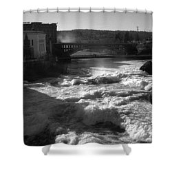 Spokane Falls Spring Flow Shower Curtain