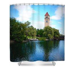 Spokane Riverfront Park Shower Curtain by Carol Groenen