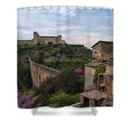 Spoleto And The Appian Way Shower Curtain by Hugh Smith