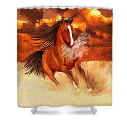 Spooked By The Storm Shower Curtain by Angela A Stanton