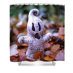 Spooky Autumn Shower Curtain by Aaron Aldrich