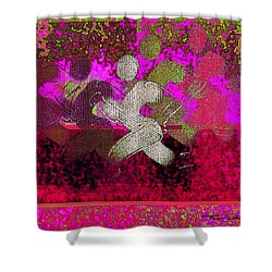 Sport B 3 Shower Curtain by Theo Danella