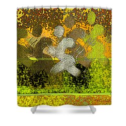 Sport B 5 B Shower Curtain by Theo Danella