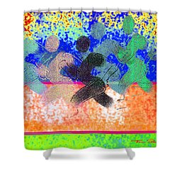 Sport B 9 C Shower Curtain by Theo Danella