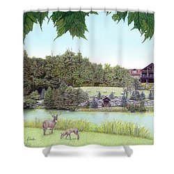Sporting Clays At Seven Springs Mountain Resort Shower Curtain by Albert Puskaric