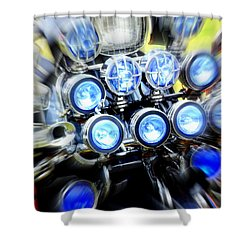 Spotlight Frenzy Shower Curtain