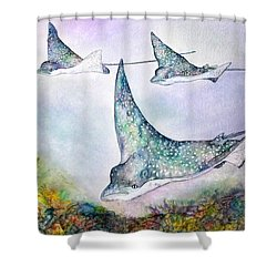 Spotted Eagle Rays Shower Curtain