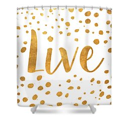 Spotted Gold II Shower Curtain
