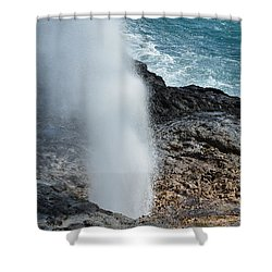 Spouting Horn Shower Curtain by P S