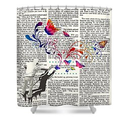 Spray Natura Graffiti Art Print Shower Curtain