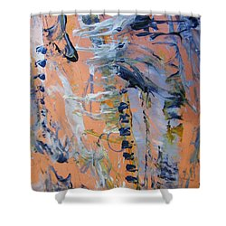 Shower Curtain featuring the painting Spring 0 by Nancy Kane Chapman