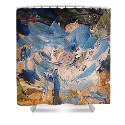 Shower Curtain featuring the painting Spring 1 by Nancy Kane Chapman