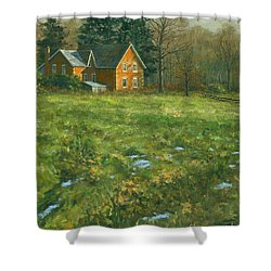 Shower Curtain featuring the painting Spring by Michael Swanson