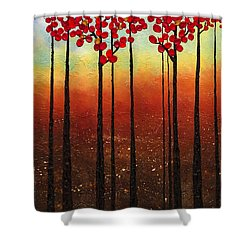 Spring Ahead Shower Curtain by Carmen Guedez