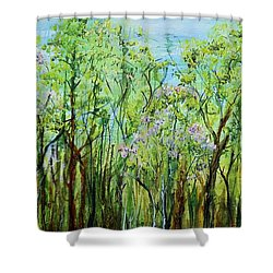 Spring Arpeggio Shower Curtain