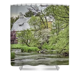 Spring Arrives At The Rose Farm Shower Curtain by Thomas Young