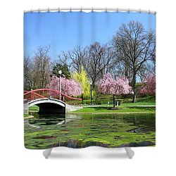 Spring At Italian Lake Shower Curtain by Lori Deiter