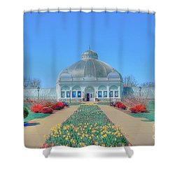 Spring At The Gardens Shower Curtain by Kathleen Struckle